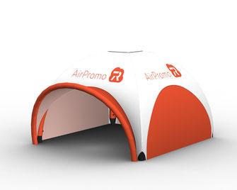 Aufblasbares Zelt ohne Gebläse