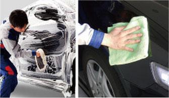 """キーパー施行車限定でミネラル取り洗車でミネラルの""""水ハジキ阻害被膜を取ります。"""