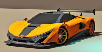 diseño de autos en fibra de vidrio