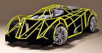 diseño y modificaciones en fibra de vidrio para autos