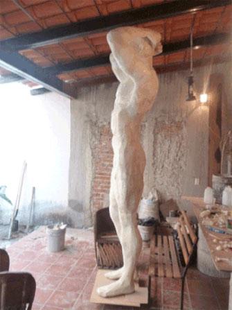 atlante columna decorativa en espuma de poliuretano