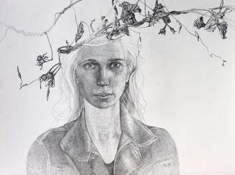 Selbst und Winde, 2005. (Tusche/Tuschestift/Papier,  46 x 65 cm)