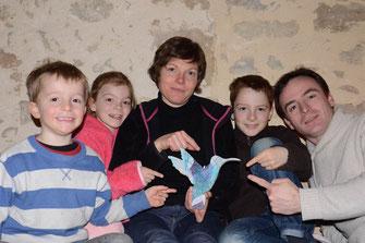 Ethan, Clara, Baptiste, Aurélie et Olivier
