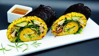 Giant Sushi Roll Vegan - vegansports fit & healthy