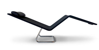 MVS, Maarten van Severen, Black lounge chair, Lounge chair,