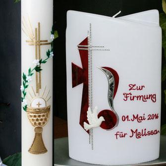 Kommunionkerze, Firmungskerze, weisser Sonntag, Kerzen zur Firmung, Kerzen zur Hl. Kommunion