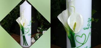Hochzeitskerze, Kerze mit Anker, Hochzeitskerze mit Herz
