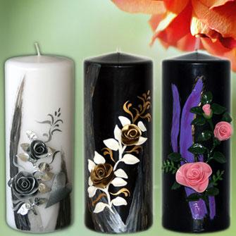 Kerzen zum Muttertag, Valentinstag, Geburtskerze, Rosenkerze, Patenkerzen, Kerzen mit Tiere, Anlasskerzen, Lebenskerze