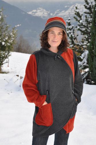 manteau bi colore
