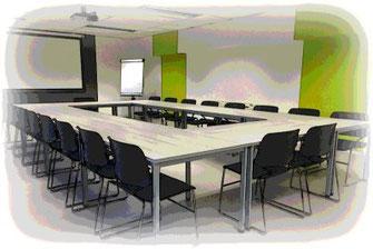 Verbesserung der Sprachverständlichkeit in Konferenzräumen.