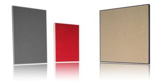Die Schallabsorber der Design-Linie bestechen durch hohe Wirksamkeit und edle Anmutung zugleich.
