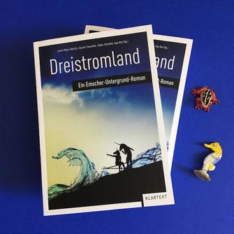 """Roman """"Dreistromland"""", herausgegeben von Sarah Meyer-Dietrich, Sascha Pranschke, Tobias Steinfeld und Anja Kiel"""
