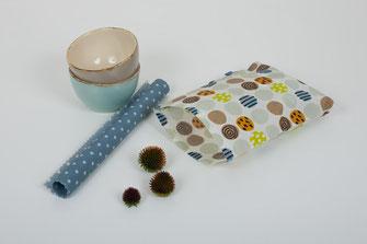 Eine Bienenwachstüte und ein Bienenwachstuch, Set aus 2.
