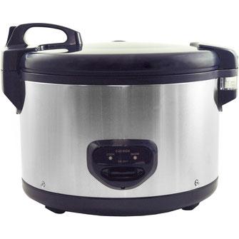 Cuckoo's größter Reiskocher mit einer Gesamtkapazität von 6,3 Liter. Mit seiner speziellen Antihaftbeschichtung brennt nix mehr an.