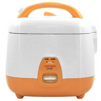 Der Cuckoo Reiskocher 0,54L CR-0331 ist der kleinste aus der Cuckoo Familie. Ideal um schnell und einfach 1-3 Portionen Reis zu kochen.