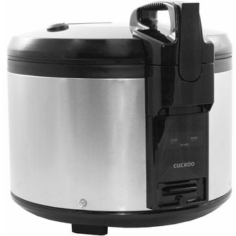 Der koreanische Hersteller Cockoo verkauft mit seinem 4,6 Liter Reiskocher ein Gerät auf höchster Qualität.