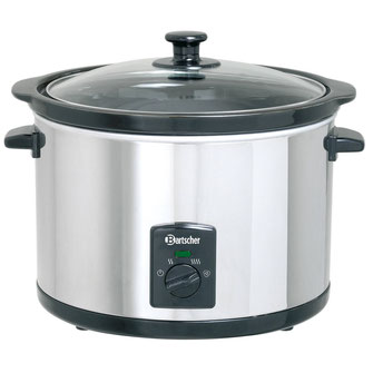 Runder Reiswärmer mit 5,5 Liter Kapazität von Bartscher für Reis, Speisen und Suppen
