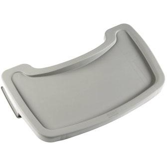 Seperates Tablett M849 in Platinum Farbe passend für Kinderhochstuhl Rubbermaid.