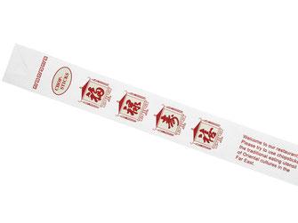 1.200 weiße Stäbchentüten zum hygienischen Verpacken Ihrer Stäbchen