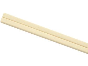 Abwaschbare und wiederverwendbare 10 Paar Melamin Stäbchen in heller Farbe.