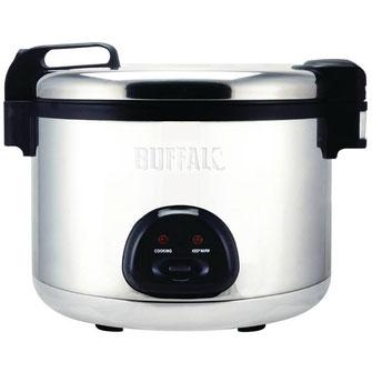 Die XXL Lösung der Firma Buffalo. In kurzer Zeit große Mengen Reis kochen und warmhalten.