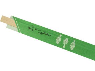 Besonders preiswerte 100 Paar Einwegstäbchen aus Holz einzeln verpackt. Mit Papierhülle und japanischen Schriftzeichen.