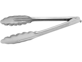 Universalzange mit gewellten Zangen. Ideal geeignet für warme und kalte Speisen sowie für die Handhabung von Zutaten.