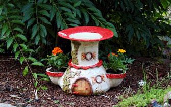 Gemeinsame Vogelbad - Keramik-Fleury - Keramik für Haus und Garten @DM_09