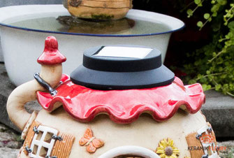 Keramik Gartenkugel einer besonderen Art
