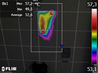 hot-spot cella fotovoltaica con termografia