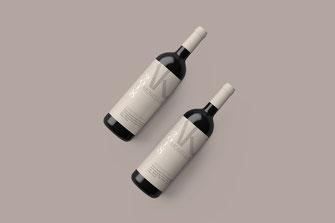 Weinetikett weiß für Moselland