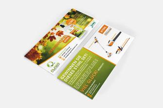 Flugblatt für Plaza Gartenbedarf