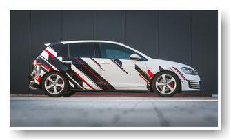Autofolierung VW Golf GTI mit Scheibentönung