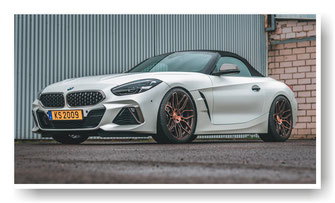 Auto Folierung BMW Z4 M40i in 3M Satin Pearl White