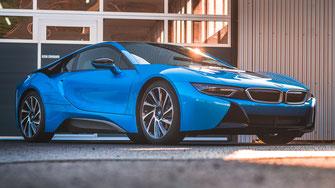 Lackschutzfolie Bodyfence bei einem BMW i8