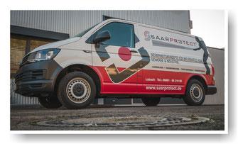 Werbebeschriftung VW Transporter