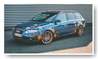 Folierung, Waben-Design, Audi Avant