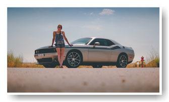 Dodge Challenger mit getönten Scheiben