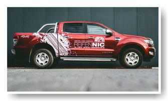 Ford Ranger mit Werbefolierung Reifenhändler