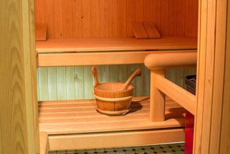 Die hauseigene Sauna im Untergeschoss vom Hotel Bellevue