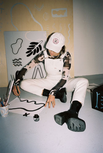 work with the young swiss zürich designer and artist yael anders  for visuals, illustrations, graphics, design and other products