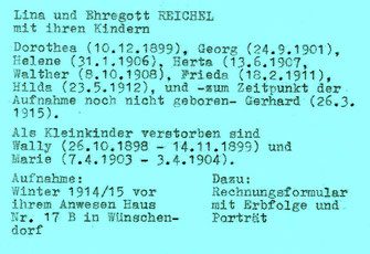Bild: Ehregott Reichel Wünschendorf