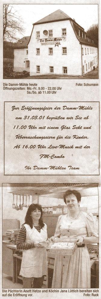 Bild: Wünschendorf Damm-Mühle Wiedereröffnung