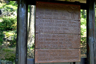 """Bild: Wünschendorf Tafel """"Der Wald"""" von 1996"""