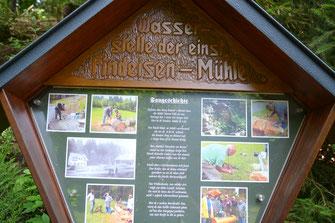 Bild: Tafel Findeisenmühle