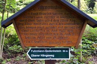 Bild: Holztafel Fuhrmannsstein