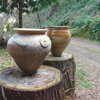 薪窯 焼き締め陶器
