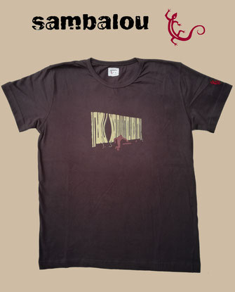 "Sambalou T-shirt 100% coton biologique / article : T-shirt ""Horsyst"" brown"