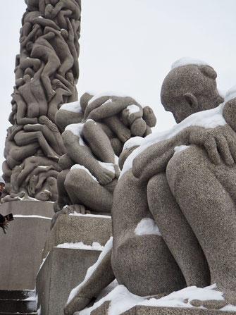 Monolitten, Vigeland Park, Oslo, Sculptures