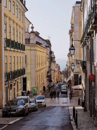 Colorful street in Chiado
